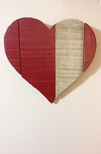 Pallet wood red heart, rustic wooden heart, red heart wall hanging, rustic farmhouse decor, pallet wood home decor, christmas gift (Babies Hanging Farm Wall)
