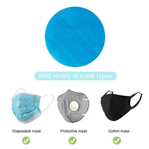 xmke96 20Pc Disposable Mask Pad Isolation Filter Pad Anti-Fog and Dust-Proof Mask Replacement Pad Round Cotton Pad for Mouth Mask Round
