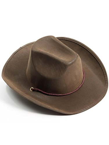 Forum Novelties Men's Novelty Adult Suede Cowboy Hat,