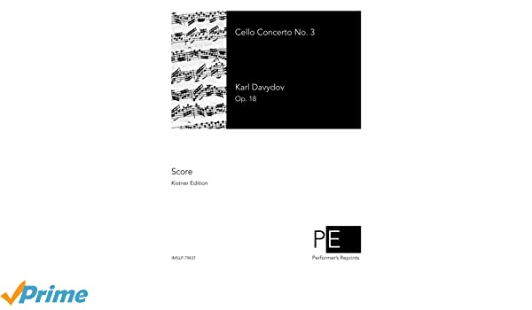 Amazon Cello Concerto No 3 9781518656590 Karl Davydov Books