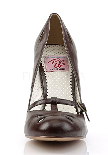Pin Marrone 20 Colpito Smitten Leather Pin Couture Brown D Up D Ecopelle Couture Up 20 Faux rZwtqr
