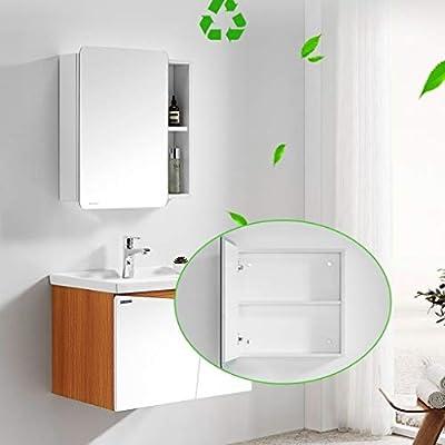 Armarios con espejo Pared del baño Armario baño con Puerta de ...
