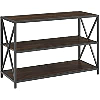 WE Furniture AZS40XMWDW Media Bookshelf
