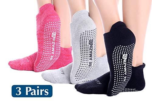 Non-Slip Socks Yoga Barre Pilates Hospital Maternity Sock w/Grips For Women Men