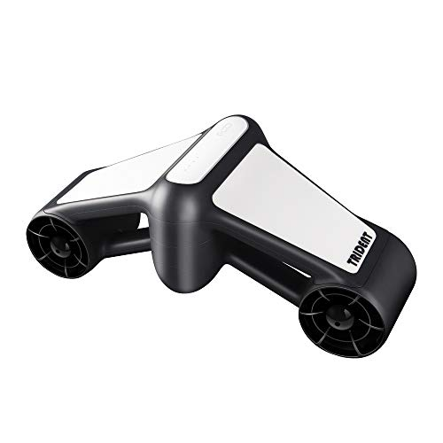 (Dual Propellers Under Water Scooter Dual Speed with Camera Mount (White))
