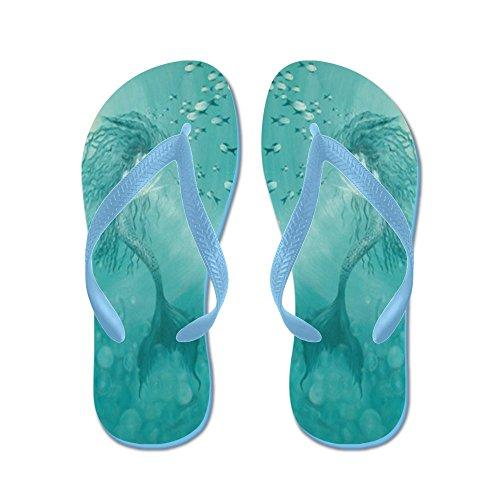 CafePress Mermaid - Flip Flops, Funny Thong Sandals, Beach Sandals Caribbean Blue