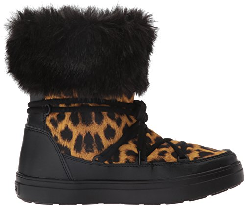 Crocs Lodgeptlacebtw, Botines Para Mujer Multicolore (Leopard/Black)