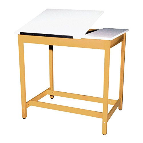 Height Laminate (Diversified Woodcrafts DT-60SA UV Finish Solid Maple Wood Art/Drafting Table with 2 Piece Top, Plastic Laminate Top, 42