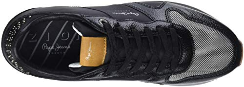 Jeans Da Zion black Nero 999 Pepe Donna Ginnastica Basse Scarpe Studs 6qTddIw