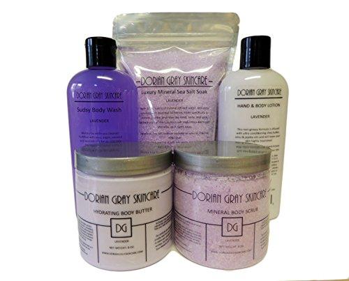 (Dorian Gray Skincare 5 Piece Gift Set (Lavender) )