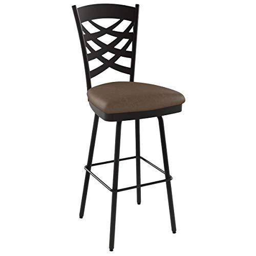 Amisco Nest Swivel Metal Barstool with Backrest, 30-Inch, Cobrizo/Amazon