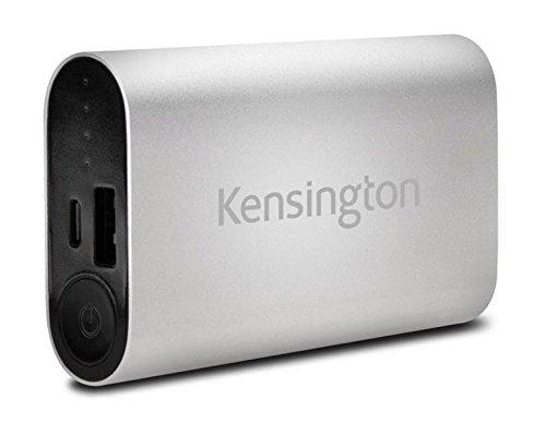 Kensington Portable Power Pack (Kensington K38220WW Silver 5200 USB Mobile Charger - 5200 mAh PowerBank USB Mobile)