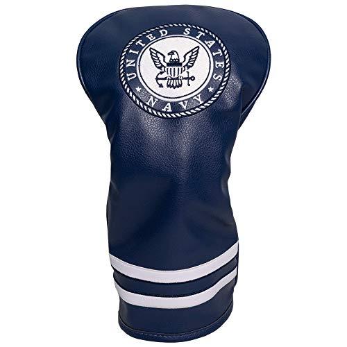 Team Golf Military Navy Vintage Driver Golf Club Headcover, Form Fitting Design, Retro Design & Superb Embroidery