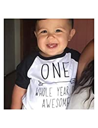 FidgetKute Kids Birthday Party Tops T-Shirt Boys Girls Tee Clothes