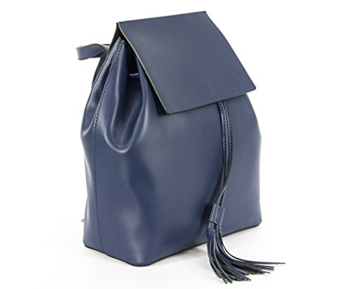 Paola Prata - Bolso mochila  de Piel para mujer Azul azul