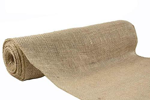 5 Yard Roll 10 Oz Burlap Premium Natural Vintage Jute Fabric 40 Inches Wide Upholstery (Mybecca Burlap)