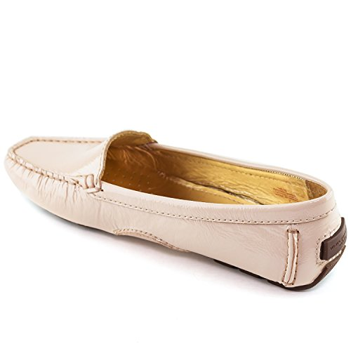 Tumbled Patent Joseph Brazil Manhasset Driving Leather Nude Style Made Marc in New York Women's Loafer ZdO6a
