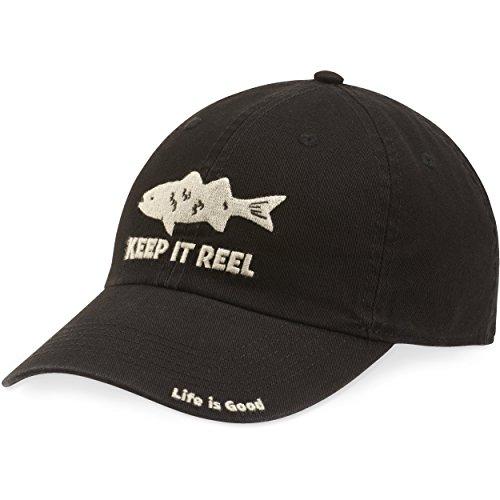 Life is good Chill Cap Keep It Reel fish Black