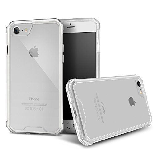 iPhone 7 / iPhone 8 Case, rooCASE Plexis Slim and Lightweight Clear TPU PC Cover for Apple iPhone 7 (2016) / iPhone 8 (2017)