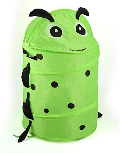 ASAB Wäschekorb für Kinder, rund, faltbar, mit Tiermotiven – Insekten, Standard