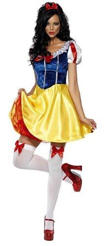 cosclub Disney nieve traje blanco de Halloween para adultos ...