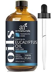 ArtNaturals 100% Pure Eucalyptus Essential Oil - (4.0 Fl Oz/120ml) - Therapeutic Grade Natural Oils - Includes Our Aromatherapy Signature Zen & Chi Blends