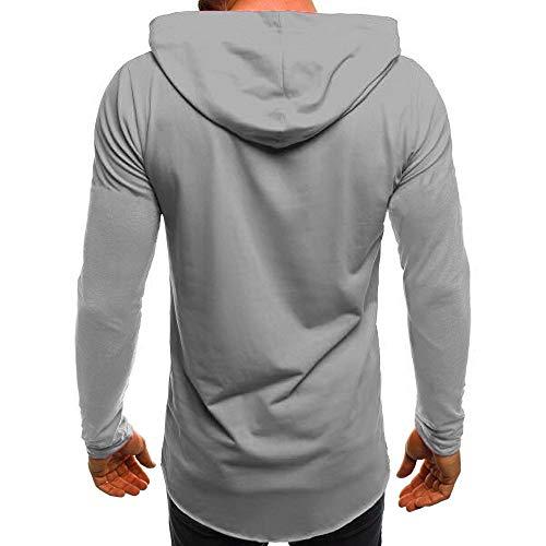 Slim Fit Manica Irregolare shirt Con Hoodie Felpe Cappotto Uomo Hem Giacca Inverno T Pullover Sweatshirt Felpa Top Autunno Grigio Hooded Lunga Cappuccio Challenge Outwear zZ8xf