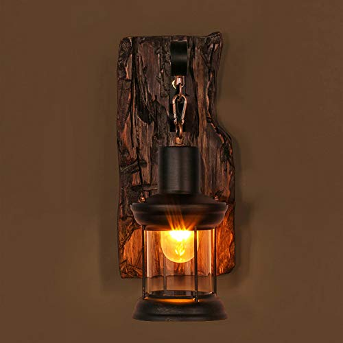 Vintage Rustic Single Light Metal Wall Sconce Glass Shade Wall Light Industrial Lighting Retro Lights ()