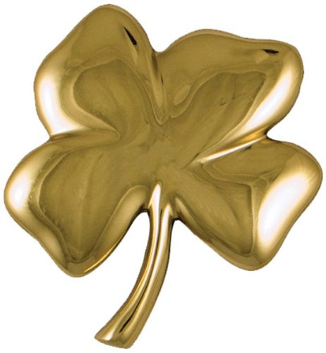 Four Leaf Clover Door Knocker - Brass (Premium Size)