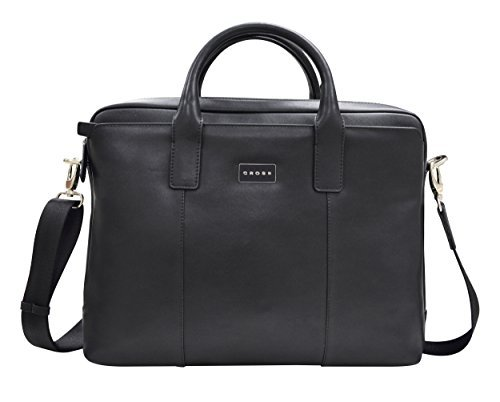 CROSS Cordoba Men's Artificial Leather Briefcase - Black (Belt Gucci Men Replica)