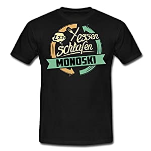 Sport Design Monoski RAHMENLOS Geschenk Hobby Männer T-Shirt von Spreadshirt,...