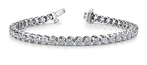 7 Carat Classic 3 Prong Diamond Tennis Bracelet 14K White Gold Premium Collection (H/I Color) by Diamond Manufacturers USA
