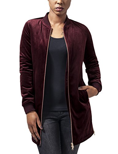 Blouson Burgundy Rouge Rot Ladies 606 Jacket Classics Urban Long Velvet Femme XTZPwXOHq