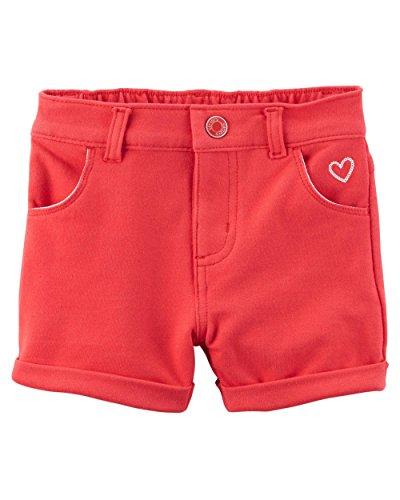 Carter's Baby Girls Stretch Skimmer Shorts - Red (12 Months)