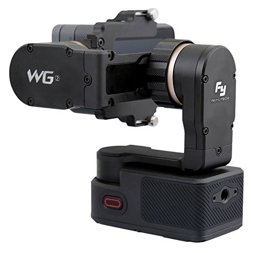 FeiyuTech WG2 3-Axis Wearable Gimbal, Suitable for Action Camera GoPro Hero 5, Hero 4, Session, Yi 4K, AEE, SJCam etc. IP67 Waterproof, Autorotation, Two Axis Unlimited Rotating, Bluetooth Control