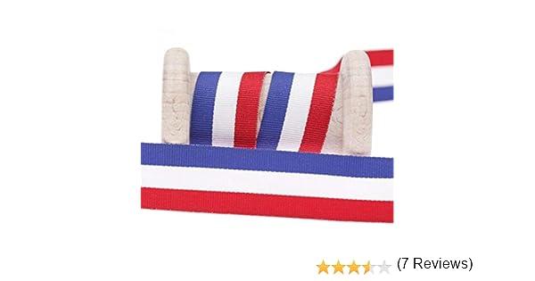 Cinta bandera francés al metro, tela, multicolor, 50 mm: Amazon.es: Hogar