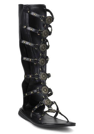 Halloween Roman (Funtasma by Pleaser Men's Halloween Roman-15 Boot,Black,S (US Men's 8-9)