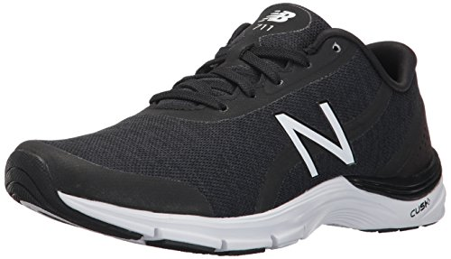 New Balance Women's 711 v3 Cross Trainer, Black/White Heather, 9 D US