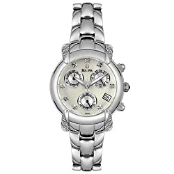 Bulova Women's 96R59 Diamond Accented Chronograph Watch