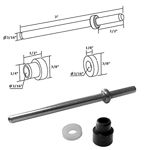 Framed Glass Stainless Steel - Stainless Steel Pivot Pin with Bushing and Washer for Framed Pivot Shower Doors