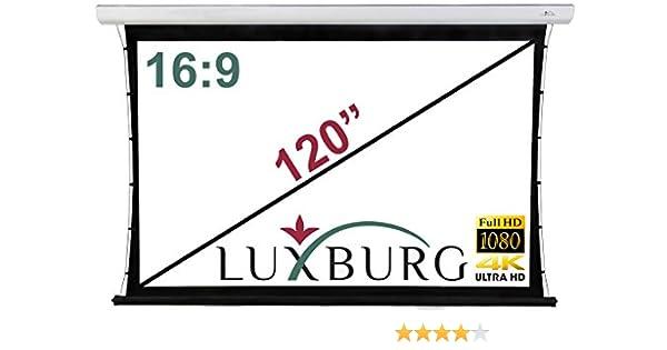 Luxburg® Premium Pantalla de proyección Tab-Tensionada motorizada ...