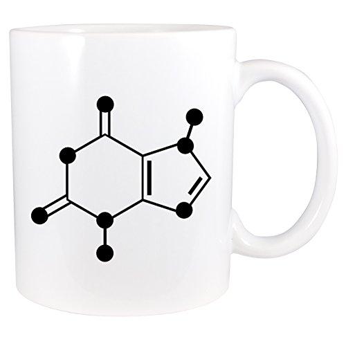 Chocolate Molecule Theobromine Skeletal Diagram - 11 Ounce Ceramic Hot Cocoa Mug