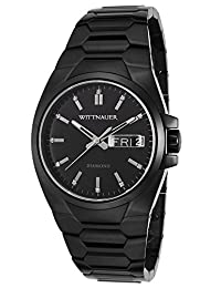 Wittnauer Mens WN3046 30mm Stainless Steel Black Watch Bracelet by Wittnauer