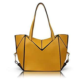 Polyethylene Bag For Women,Yellow - Tote Bags