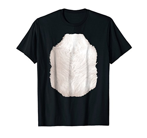 Easy Halloween Costume Skunk T-shirt Funny Chest Hair Belly ()