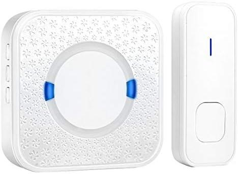 [해외]YSSWJ Ysswjzz Wireless WiFi DoorbellIP55 Waterproof Wall Plug-in Cordless Door Chime at 980-feet Range53 Chimes Blue Light (Color : White) / YSSWJ Ysswjzz Wireless WiFi DoorbellIP55 Waterproof Wall Plug-in Cordless Door Chime at 98...
