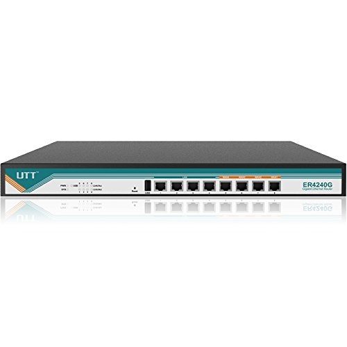 UTT ER4240G Business Gigabit Router 4 WAN ports, 4 LAN Ports, Load Balance/Failover, NAT,IPSec/PPTP VPN,Firewall by UTT