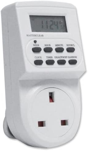 London Empire /® Electronic Digital Mains Timer Socket Plug-in with LCD Display 12//24 Hour 7 Days