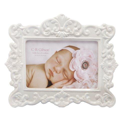 Bella Picture Frame - C.R. Gibson Ceramic Photo Frame, Bella