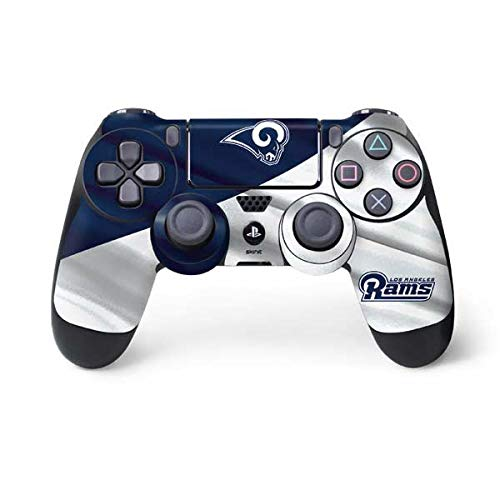 Skinit Los Angeles Rams Flag PS4 Controller Skin - Officially Licensed NFL PS4 Decal - Ultra Thin, Lightweight Vinyl Decal Protective Wrap